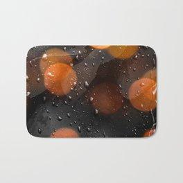 Raindrops and bokeh art Bath Mat