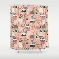 holiday Shower Curtains featuring Holiday Delights by Anna Deegan