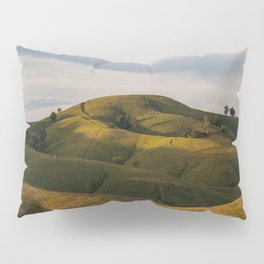 Rolling green Fairytale Hills English Countryside Landscape Pillow Sham