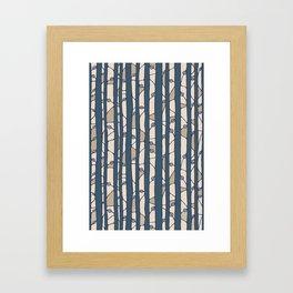 Into The Woods blue cream Framed Art Print