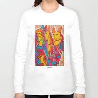 rabbits Long Sleeve T-shirts featuring - rabbits - by Magdalla Del Fresto