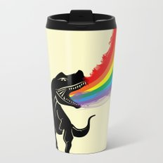 dinosaur rainbow Metal Travel Mug