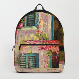 Flower-filled patio Backpack