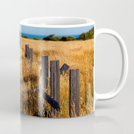 Golden Field By The Sea Coffee Mug