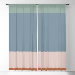 Contemporary Color Block XI Blackout Curtain