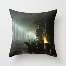 Vintage Railroad Roundhouse - Chicago 1942 Throw Pillow