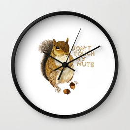 Irreverent Squirrel Wall Clock