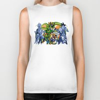 dbz Biker Tanks featuring DBZ - Cell Saga by Mr. Stonebanks