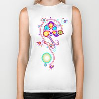 psychedelic Biker Tanks featuring Psychedelic by tuditees