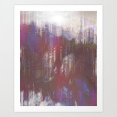Glitch 'n slide Art Print