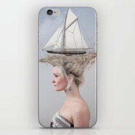 Sailing - White iPhone Skin