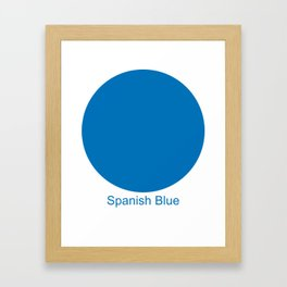 Spanish Blue Framed Art Print