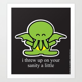 Happy Thulhu Art Print