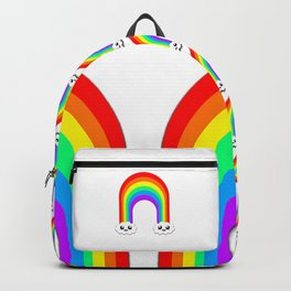Happy Rainbow (Single On White) Backpack