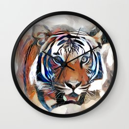 Tiger, the God of the Mountain Wall Clock