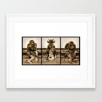 medieval Framed Art Prints featuring Medieval Nightmare by Irina Chuckowree