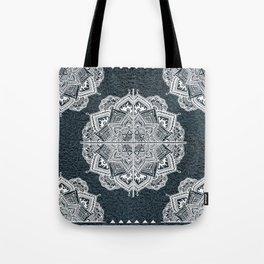 Mandala Lace Turquois Tote Bag