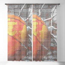 Basketball art swoosh vs 13 Sheer Curtain