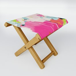 pink sky II Folding Stool