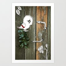 Theo and the Worm Art Print