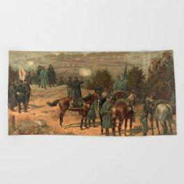 Civil War Battle of Chattanooga by Thulstrup Beach Towel