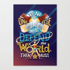 Defend your world v2 Canvas Print
