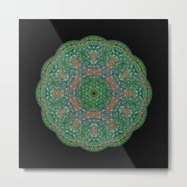 Emerald Mandala Metal Print