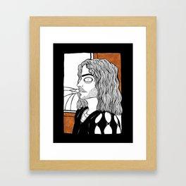 Renaissance portrait of Cezare Borgia Framed Art Print