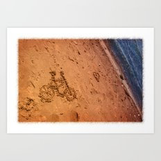 sand bicycle Art Print