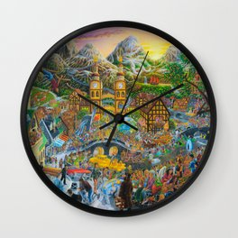 Magical Mystery Tour Color Edit Wall Clock
