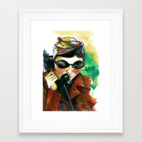 amelie Framed Art Prints featuring Amelie by Gra Pereira