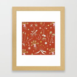 Red Flora of Planet Hinterland Framed Art Print