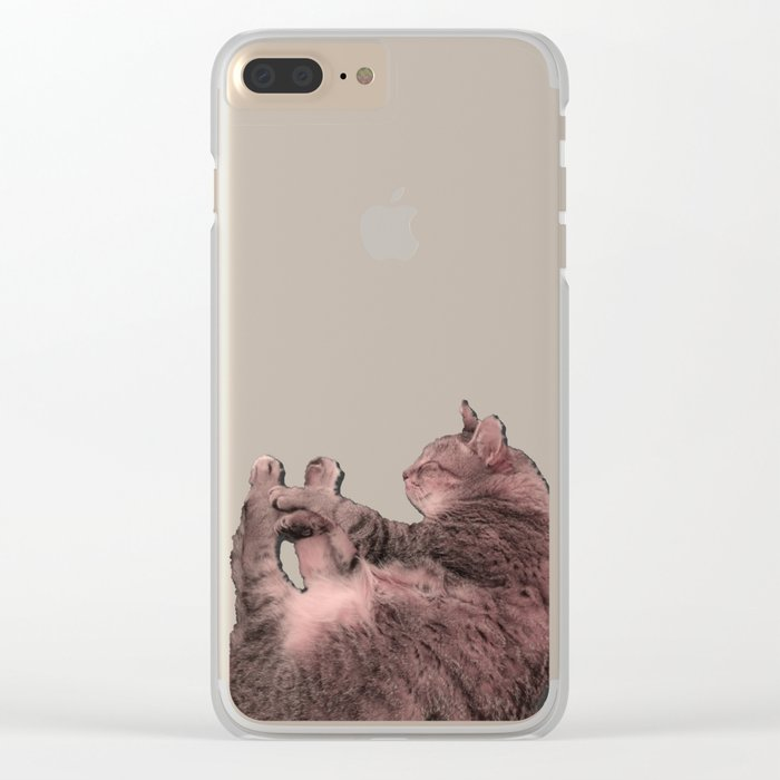 Kitty Cat Sweet Dream Clear iPhone Case