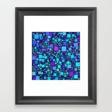 Post It Blue Framed Art Print