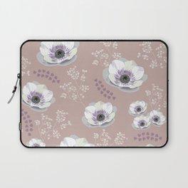 Anemones IV: pattern beige Laptop Sleeve