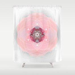 Jericho Rose Soul Petal Sacred Geometry Mandala Shower Curtain