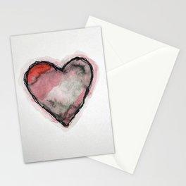 Stained Heart Stationery Cards