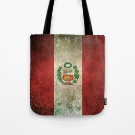 Old and Worn Distressed Vintage Flag of Peru Tote Bag