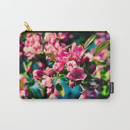 Pink Crab Apple Flowers Carry-All Pouch