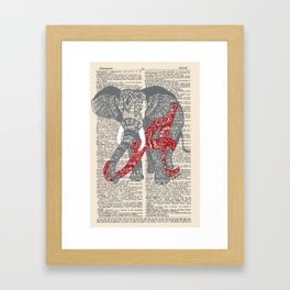 Roll Tide (Alabama Elephant) Framed Art Print