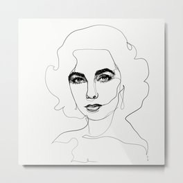 Elizabeth Taylor Metal Print