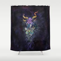 totem Shower Curtains featuring Totem by Ashleigh Hungerford