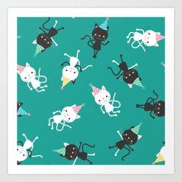 Party Cats Art Print