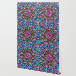Saratoga Rainbow Swirls Absract Mandala Wallpaper