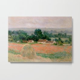 Haystack at Giverny Metal Print