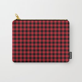 Winter red and black plaid christmas gifts minimal pattern plaids checked Carry-All Pouch