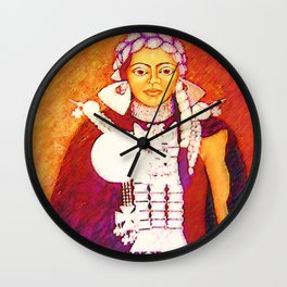 Daughter of the bright sun Wall Clock