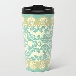 Ornamental Renaissance Border Design Acqua  Travel Mug