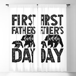 first father's baby daddy day Blackout Curtain