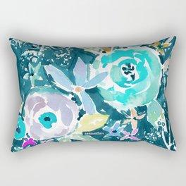 BEAUTY AND THE BADASS FLORAL Rectangular Pillow